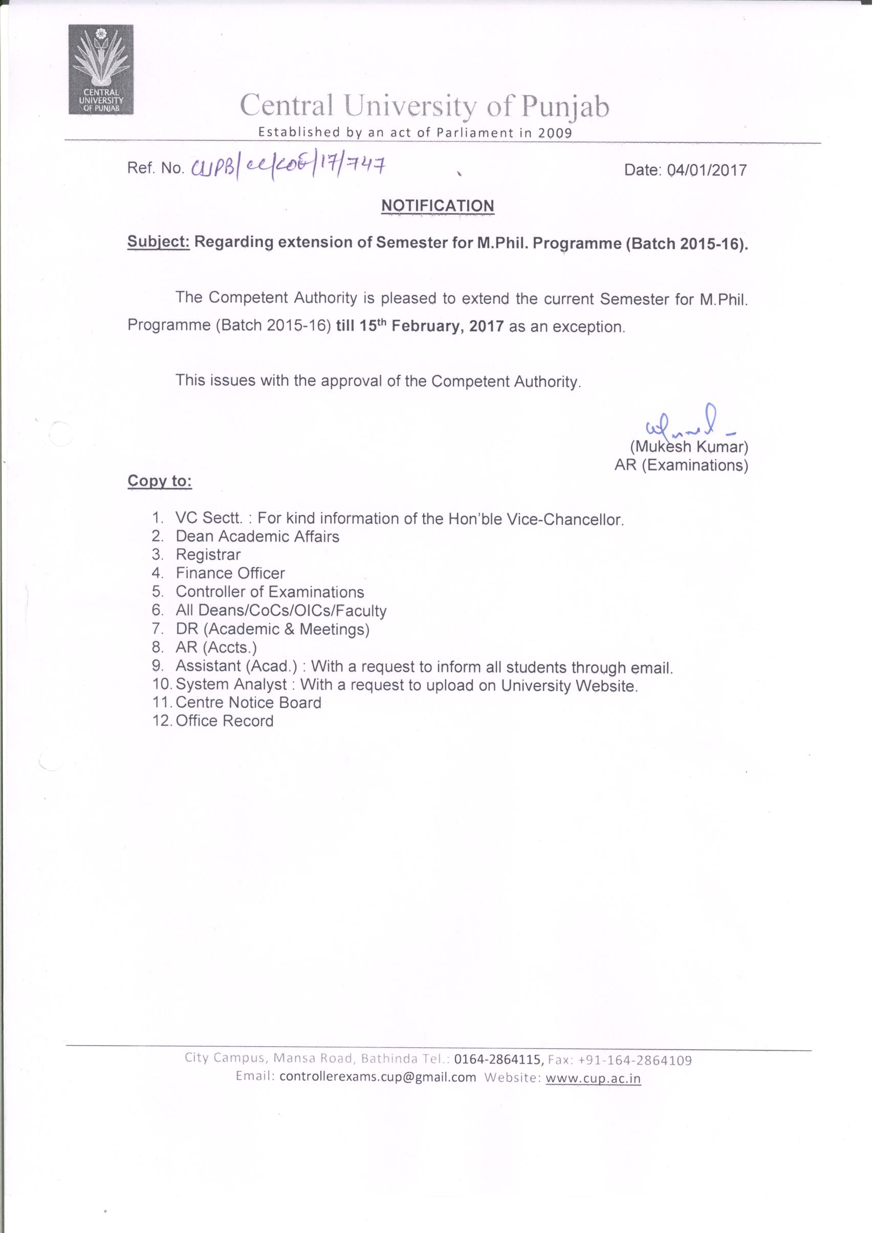 Welcome to central university of punjab bathinda extension for mil dissertation yadclub Images